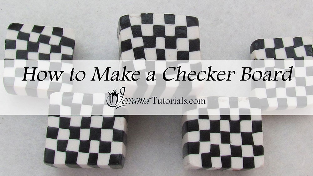 How to make a polymer clay checkerboard cane