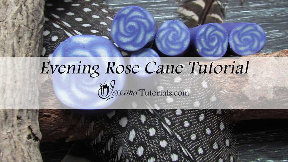 Polymer Clay Evening Rose Cane