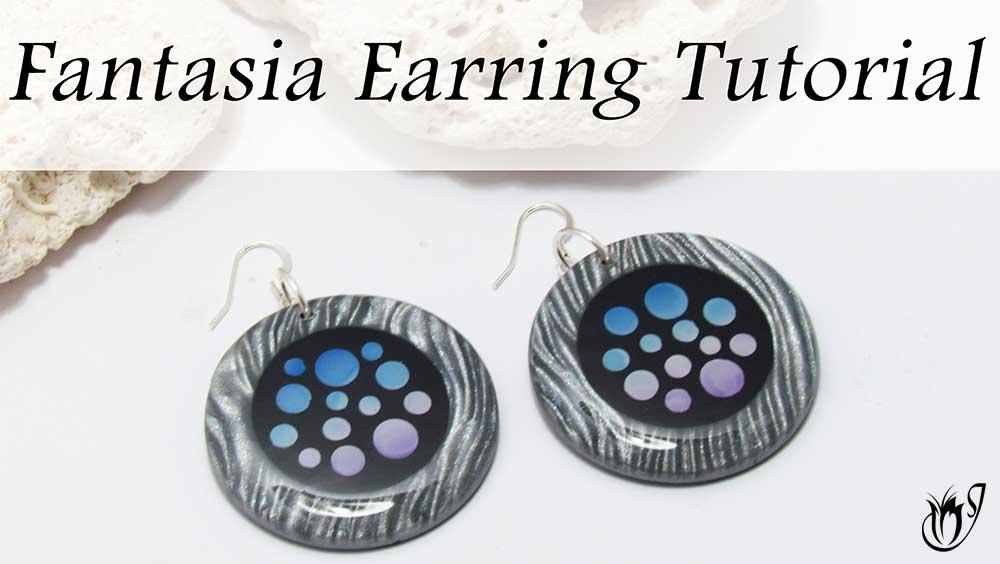 Fantasia Polymer clay earrings