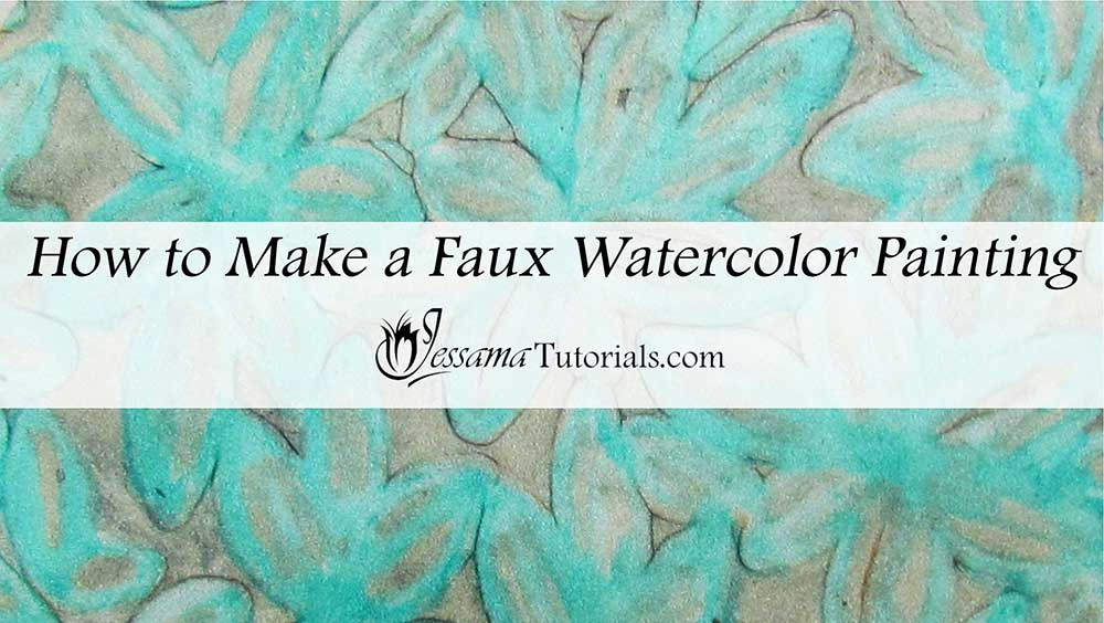 How to make a polymer clay faux watercolor painting