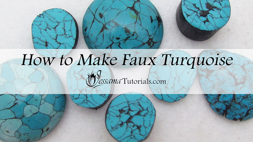 Polymer clay faux turquoise tutorial