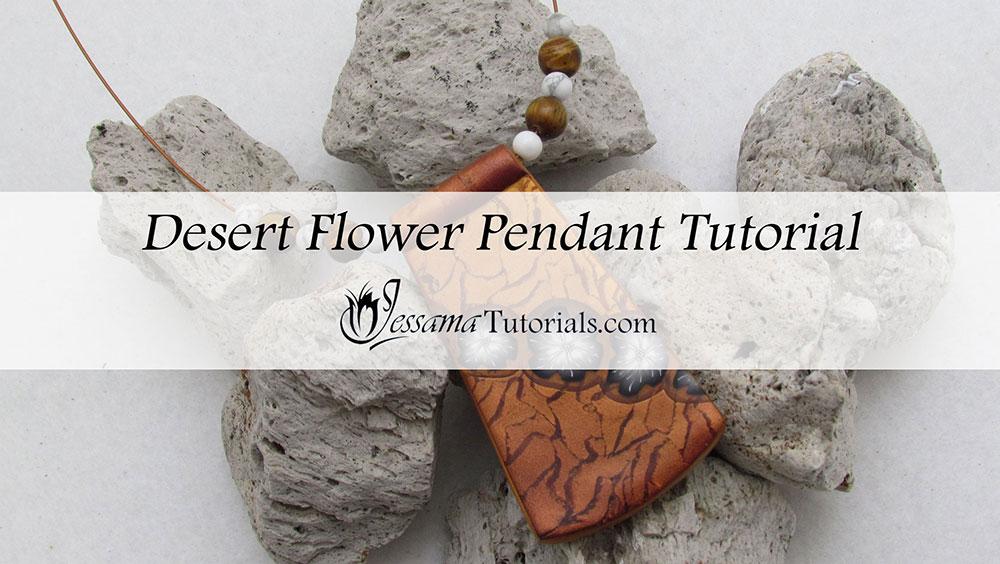 Polymer Clay Desert Flower Necklace