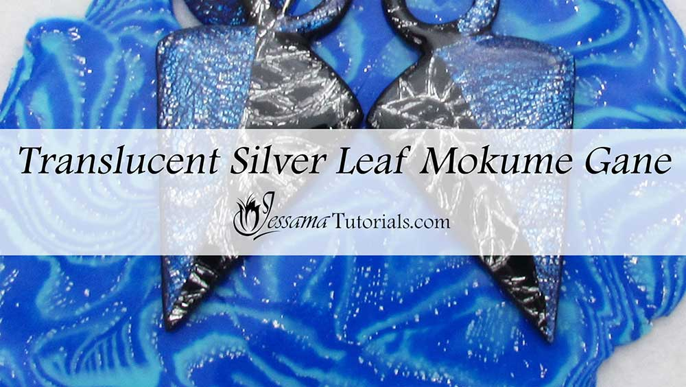 Translucent silver leaf mokume gane technique