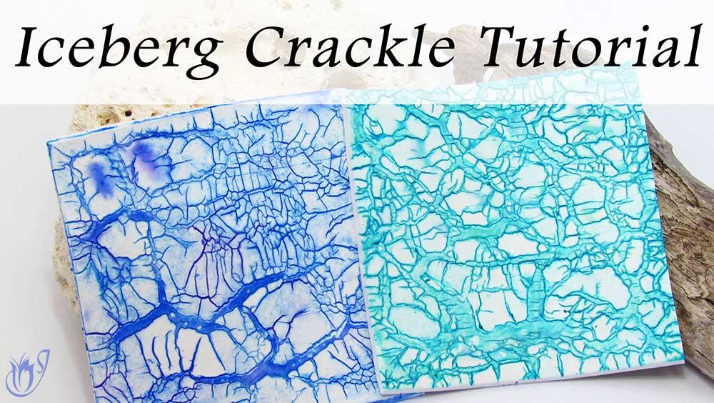 Iceberg Polymer clay crackle
