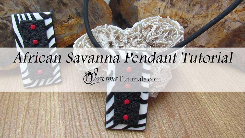 African savanna polymer clay designs
