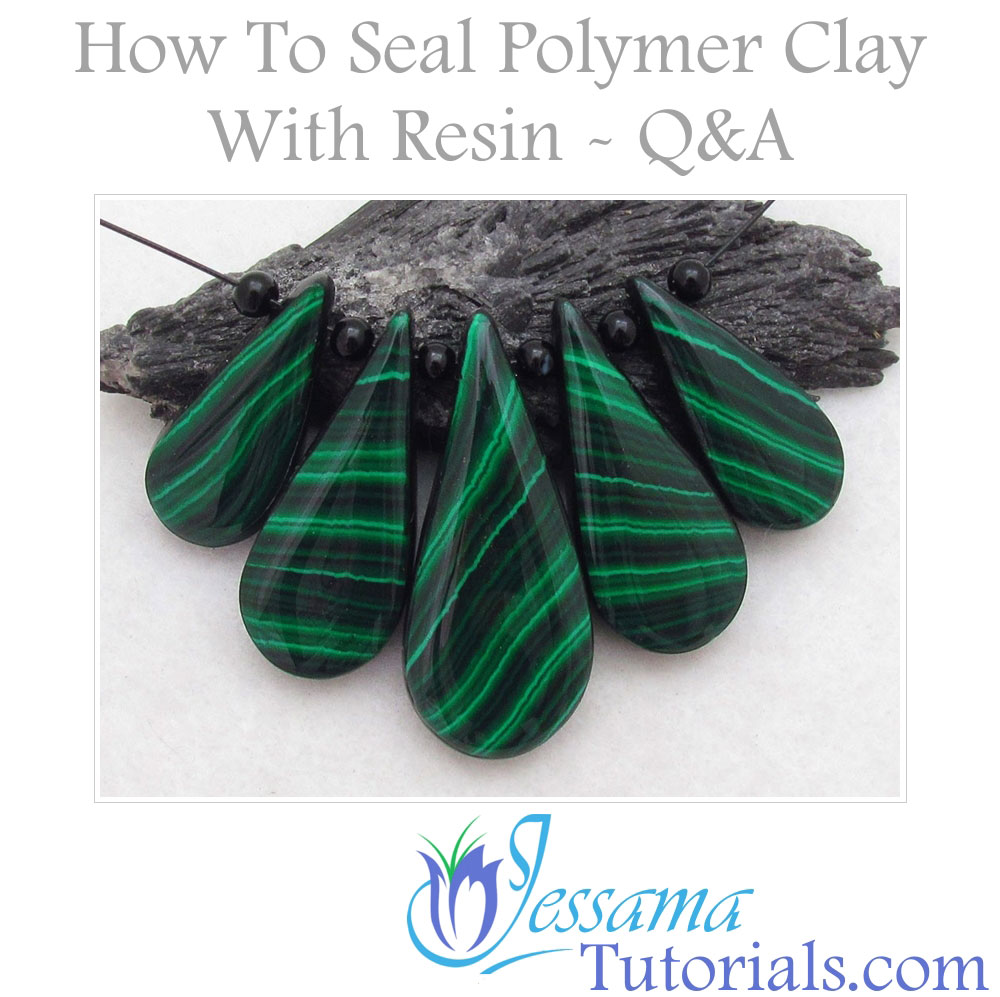 How to seal polymer clay with resin