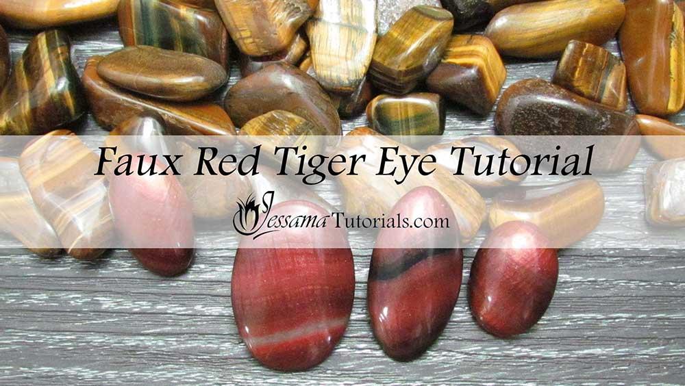 Faux Red Tiger Eye