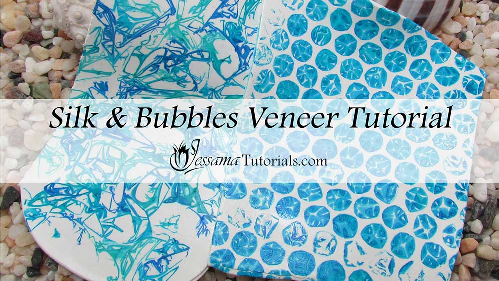 Polymer clay alcohol ink veneer