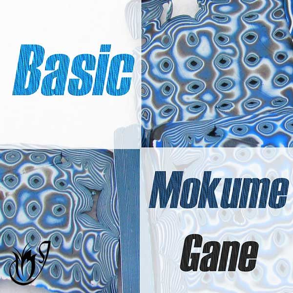 Basic polymer clay Mokume Gane tutorial