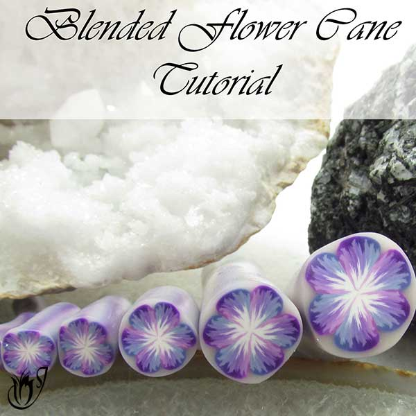 Polymer clay blended flower cane