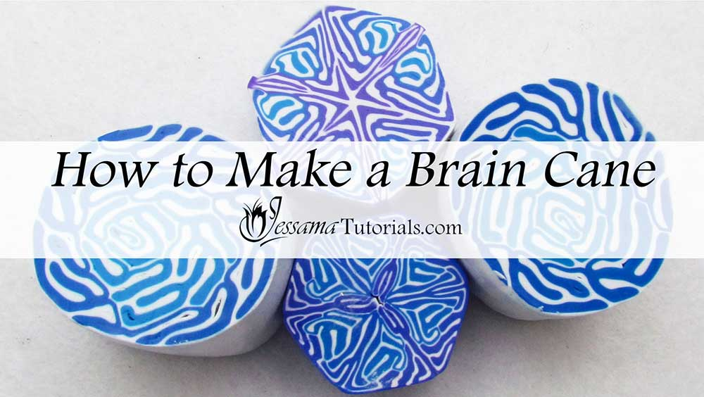 How to make a polymer clay brain cane