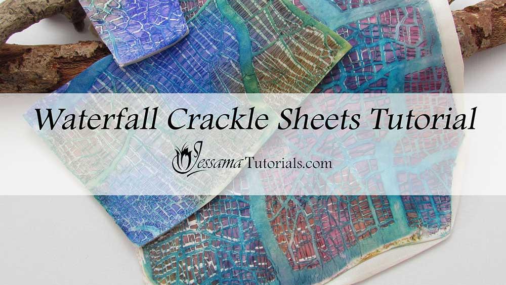 Waterfall Crackle Polymer Clay Veneer Tutorial