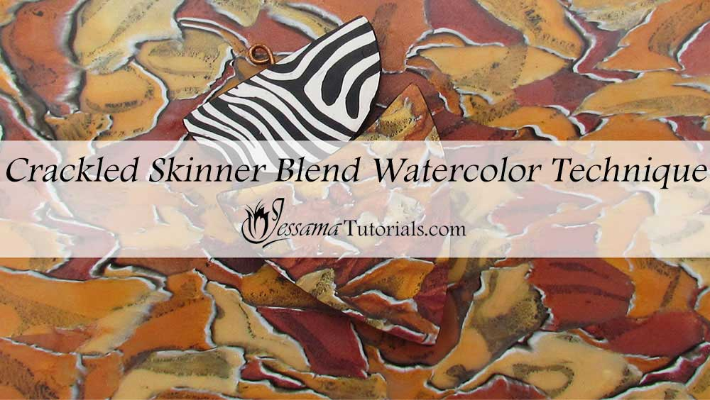 Crackled Skinner Blend Polymer Clay Watercolor Technique