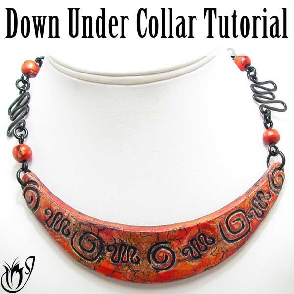 DownUnder Polymer Clay Bib Collar