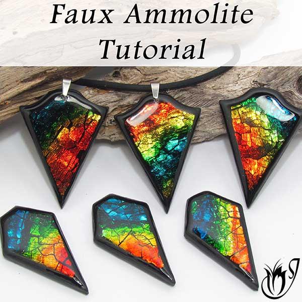 polymer clay faux ammolite