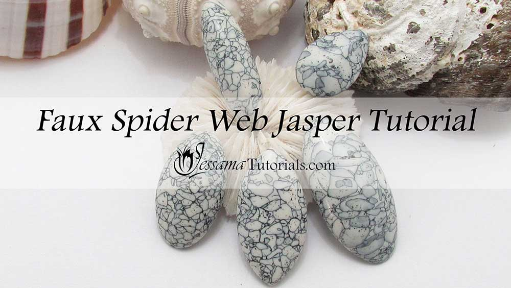 faux polymer clay spiderweb jasper
