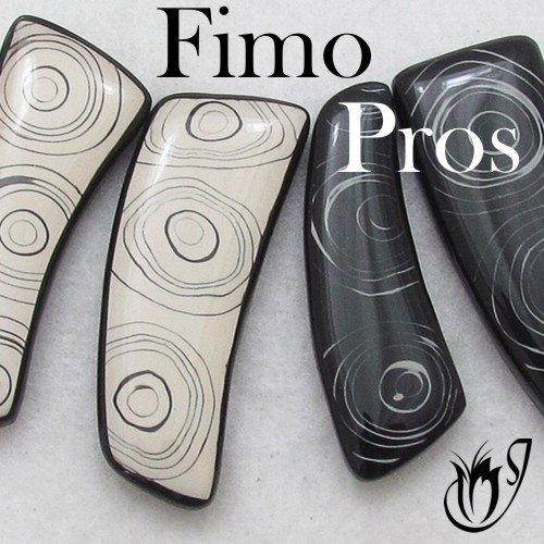 Fimo Professional Polymer clay pendants