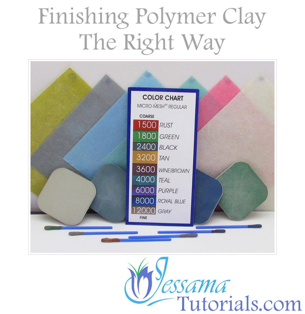 Finishing Polymer Clay - Sanding and Buffing
