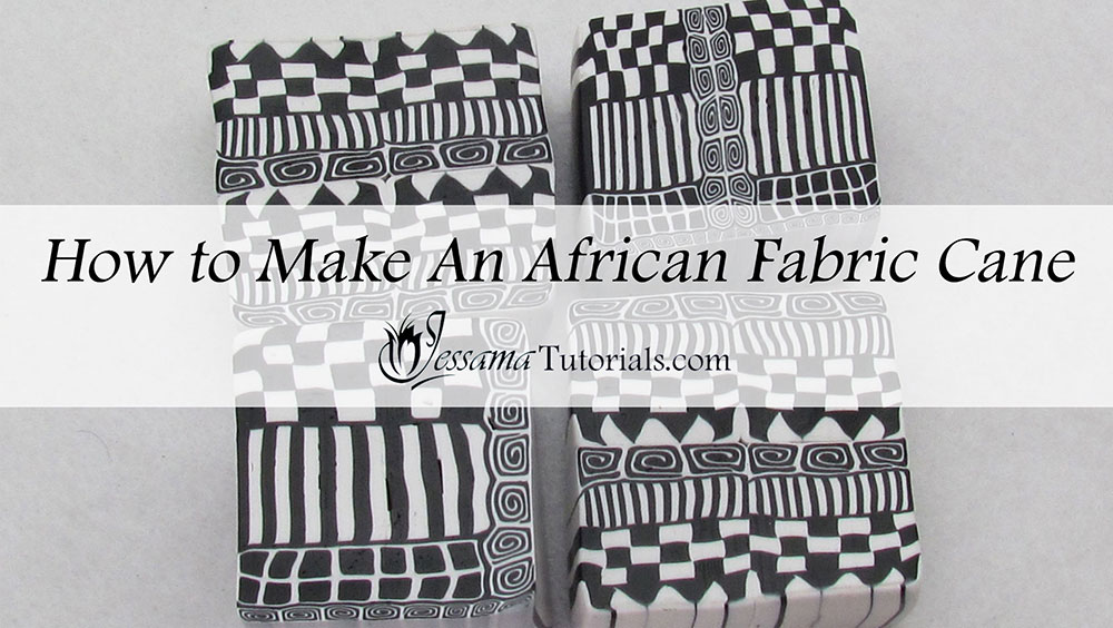 How to make an African Fabric Geometric Cane