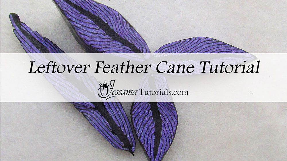 polymer clay leftover feather cane