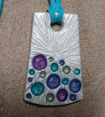 Pearl and Pebeo Finished Pendant