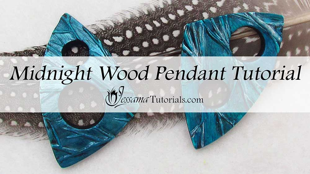 Midnight Wood Pendant Polymer Clay Tutorial