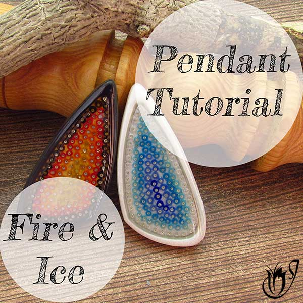 Fire and Ice Polymer Clay Bezel