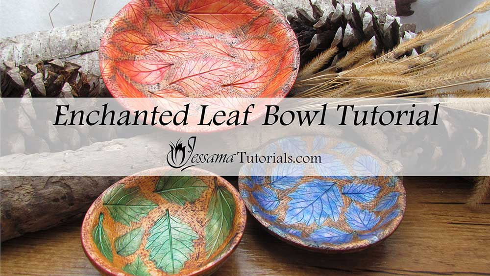Enchanted Leaf polymer clay bowls