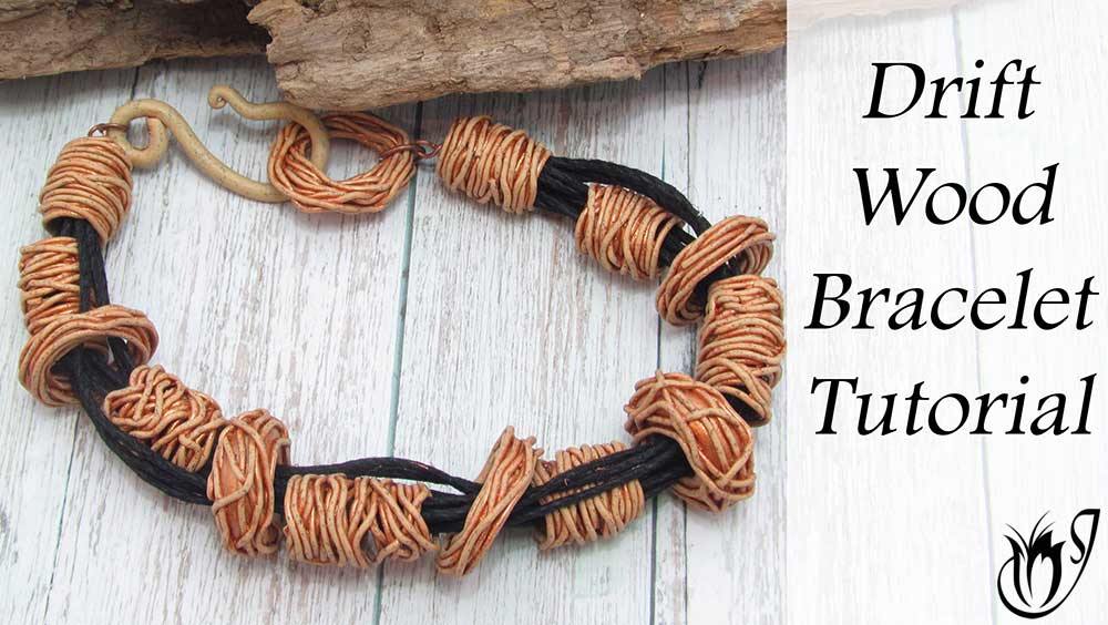 Polymer Clay Driftwood Bracelet