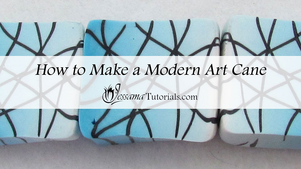 How to Make a Modern Art Polymer Clay Cane