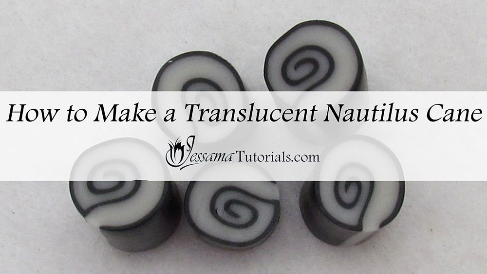 How to make a translucent nautilus polymer clay cane