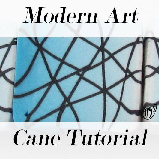 Polymer clay modern art cane