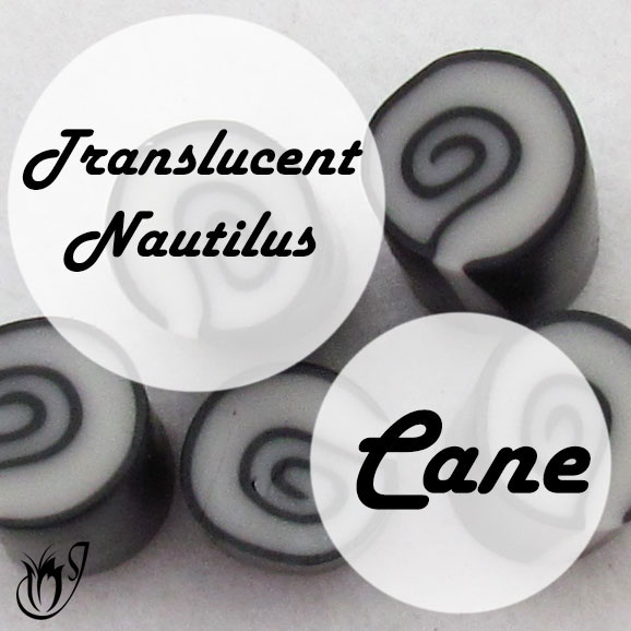 Translucent Nautilus Polymer Clay Canes