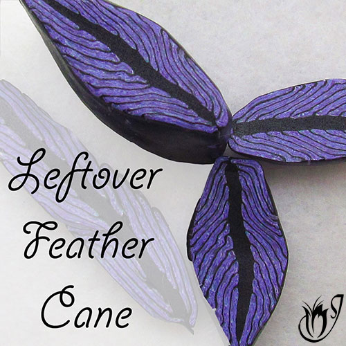 Polymer clay leftover feather canes