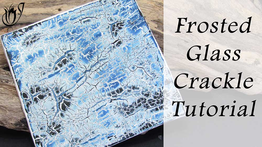 Frosted Glass polymer clay crackle