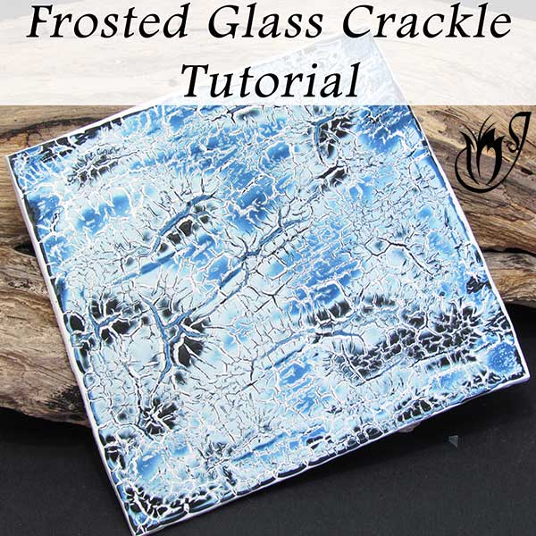 Polymer clay frosted glass crackle