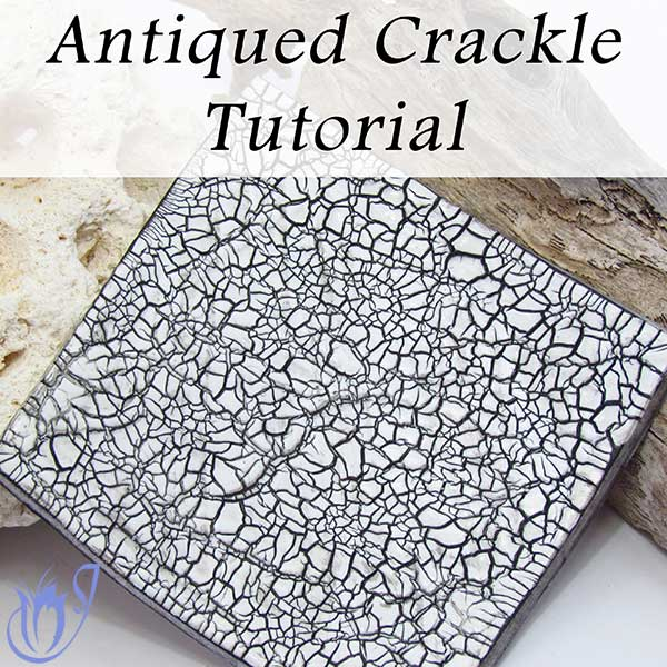 Antiqued Polymer clay crackle