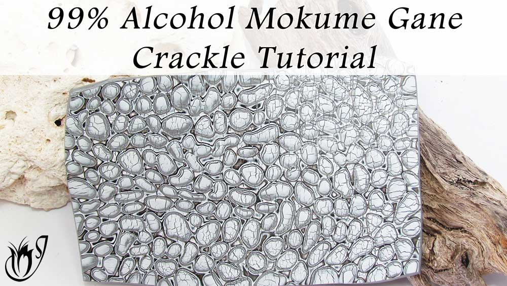 99% Alcohol Mokume Gane Polymer Clay Crackle