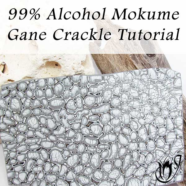 99% Alcohol Mokume Gane Polymer Clay Crackle