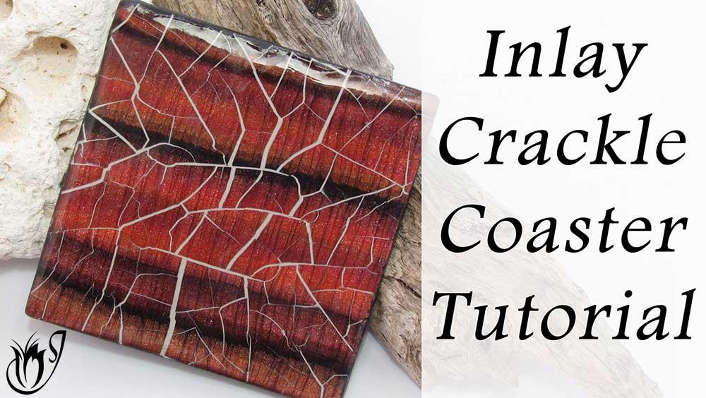 Inlay Polymer Clay Crackle Coaster