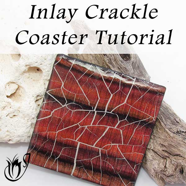 Inlay Polymer Clay Crackle Coaster