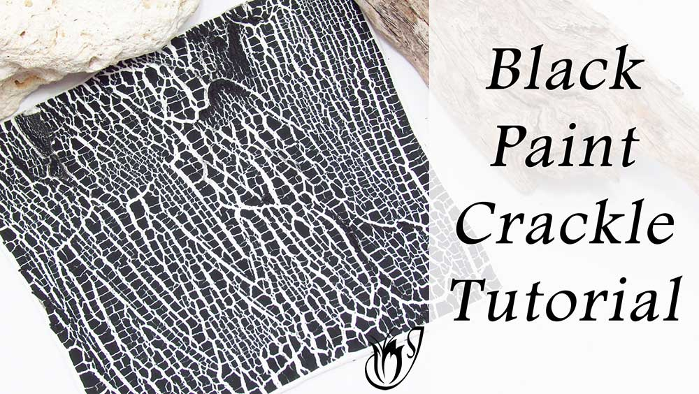 Black Paint Polymer Clay Crackle