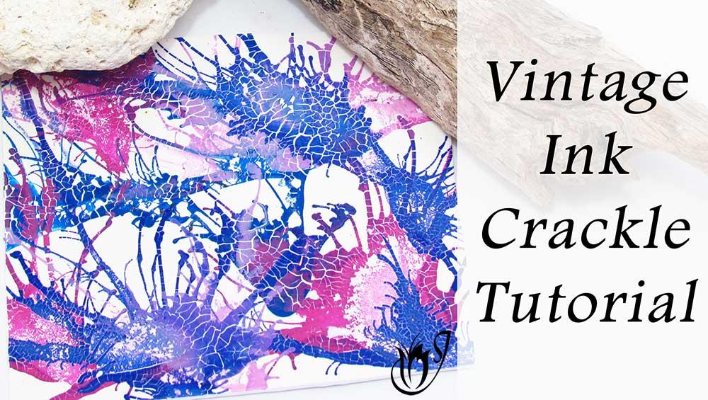 Vintage Ink Polymer Clay Crackle