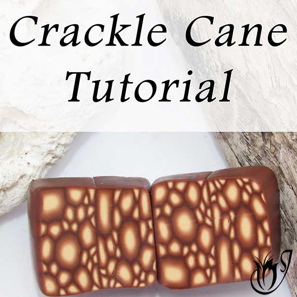 Polymer Clay Crackle Cane Tutorial