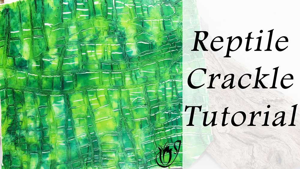 Reptile Polymer Clay Crackle