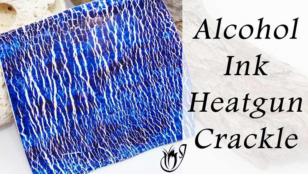 Alcohol Ink Heatgun Polymer Clay Crackle
