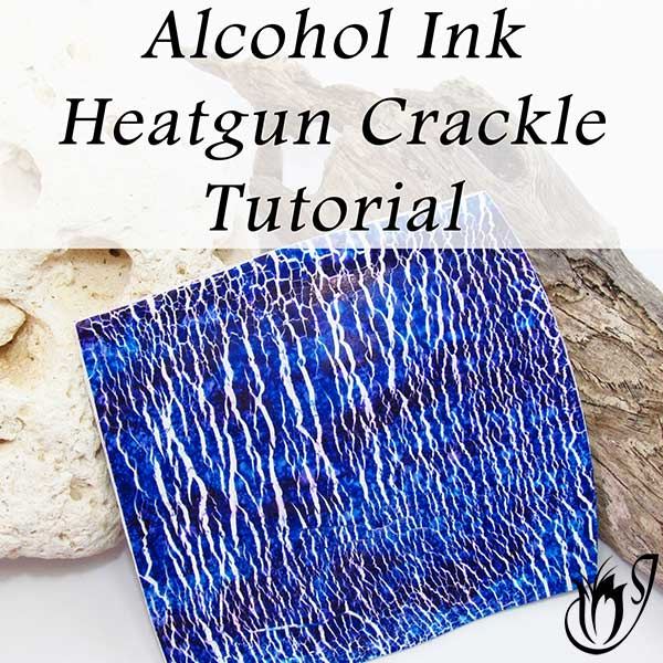 Alcohol Ink Heatgun Polymer Clay Crackle
