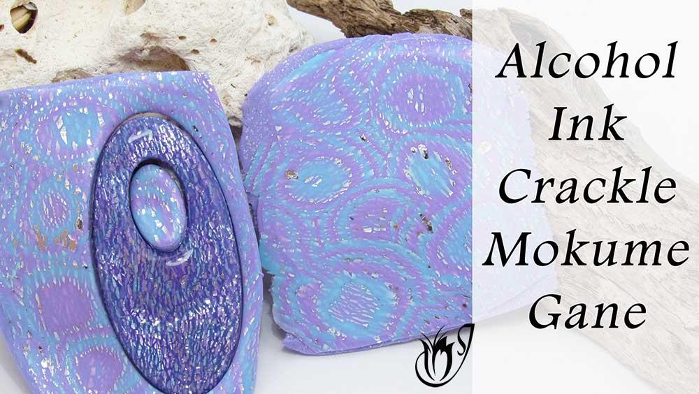 Alcohol Ink Mokume Gane Polymer Clay Crackle