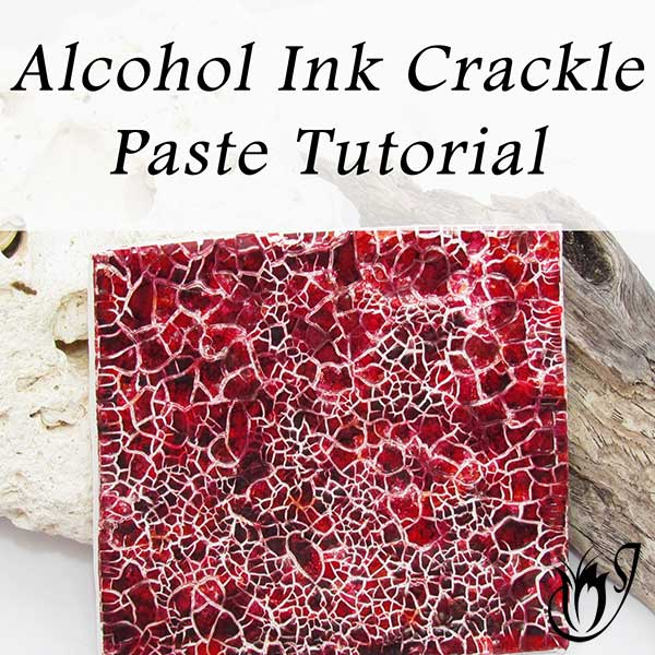 Alcohol Ink Crackle Paste Polymer Clay Crackle
