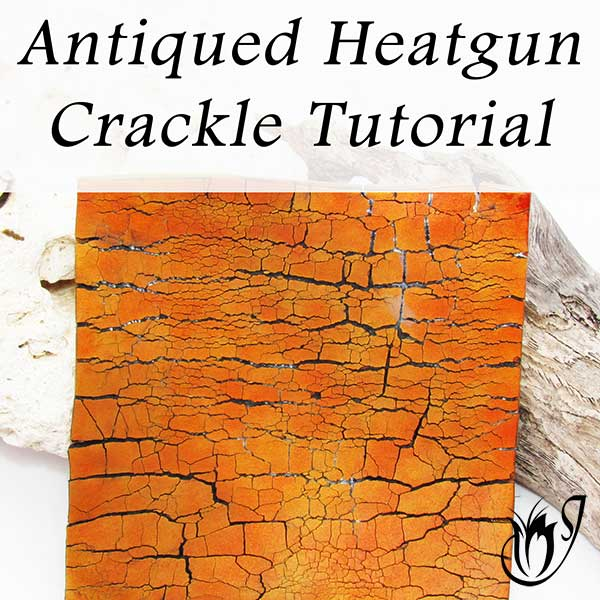 Antiqued Heatgun Polymer Clay Crackle